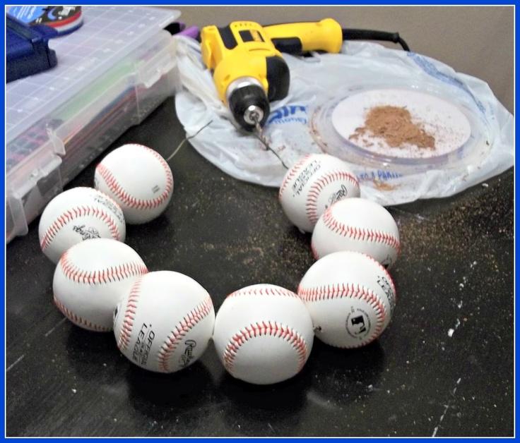 Get ready for baseball! How to make a baseball wreath.