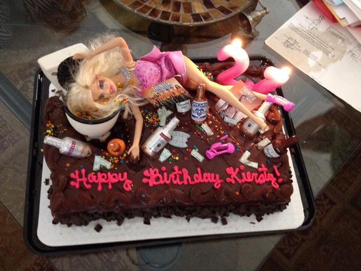 Kiersty's 21st birthday drunk Barbie cake
