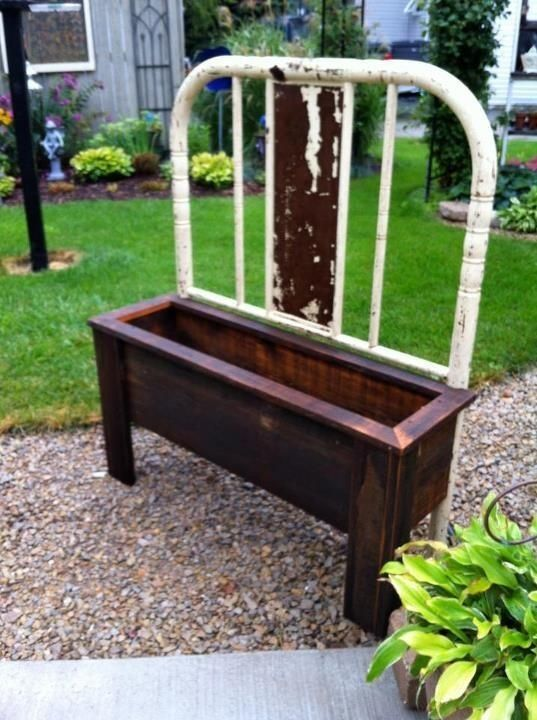 iron bed frame planter how to make a bench and planter from old bed frames