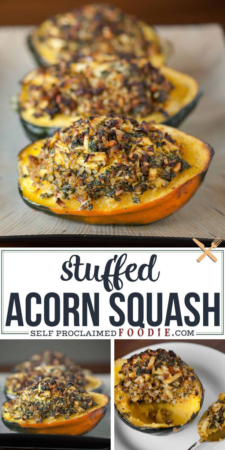 Stuffed Acorn Squash Fills Tender Roasted Acorn Squash With