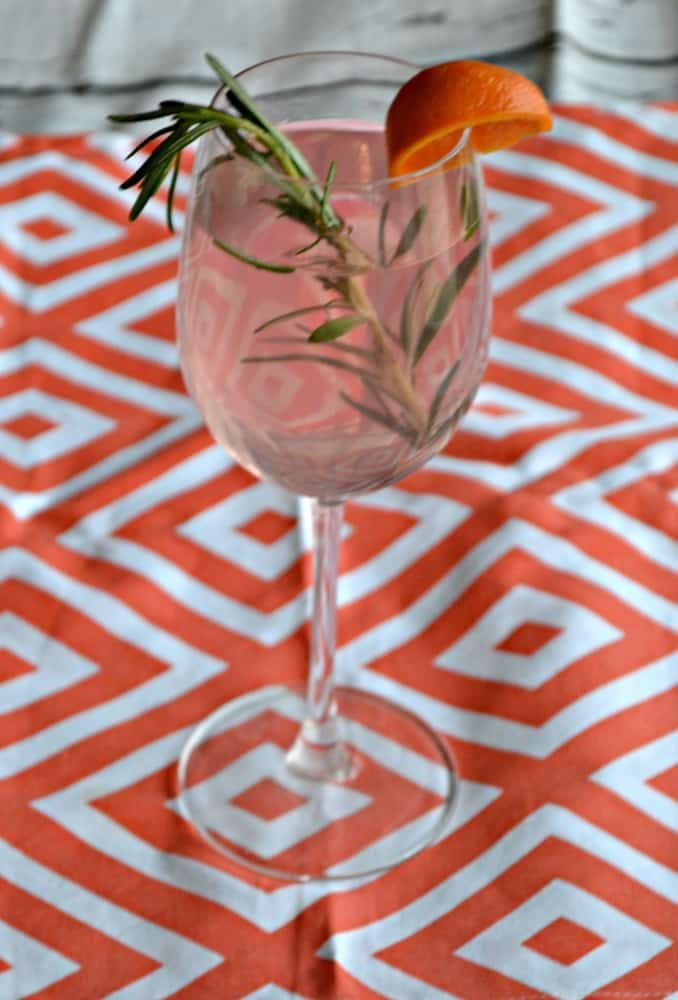 Blood Orange Sangria with Fresh Rosemary is a delicious party cocktail!