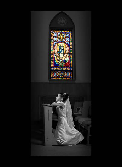 I need to try and get a pic like this on my daughters 1st Communion