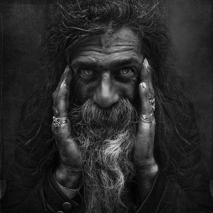 Homeless: Faces, Art, Lee Jeffries, Portraits, People, Leejeffries, Black, Photography, Eye
