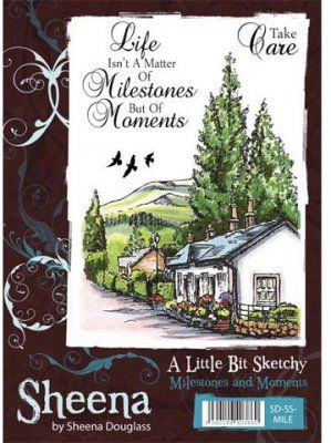 A Little Bit Sketchy Stamp Set - Milestones and Moments by Sheena Douglass