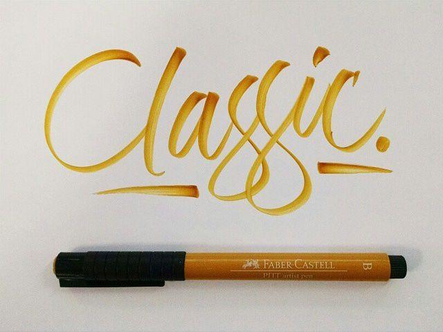 calligraphy / brush pen