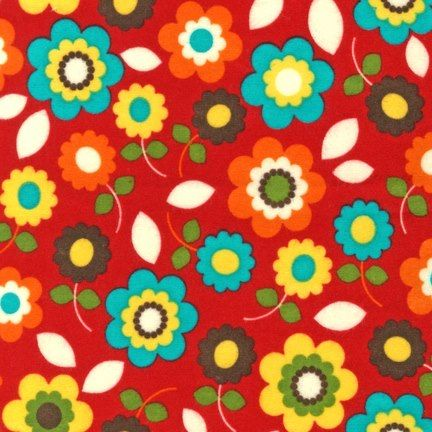 MADELINE FLORAL RED FLANNEL ANN KELLE ROBERT KAUFMAN FABRIC - $11.20 : Quilt Fabric - The Oz Material Girls, quilt | quilting | patchwork fabrics
