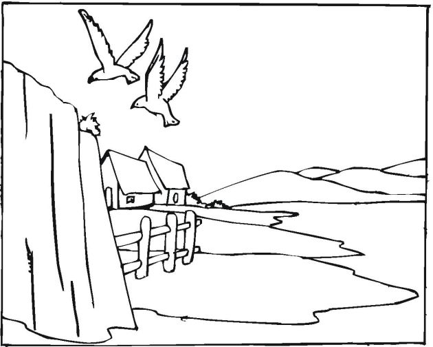 Landscape 24 Coloring Page Click To Print Image Only Without Ads