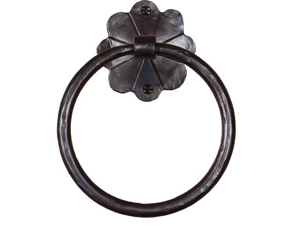 Daisy Wrought Iron Hand Forged Iron Towel Ring Products