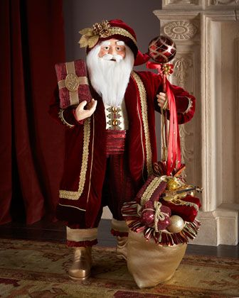 "36"" Burgundy Santa at Neiman Marcus."