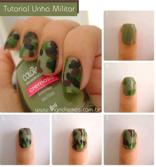 fashion, nail polish, military, nail art, nails, trend, belle!!!