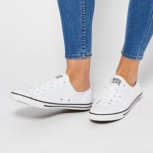 converse dainty white leather womens