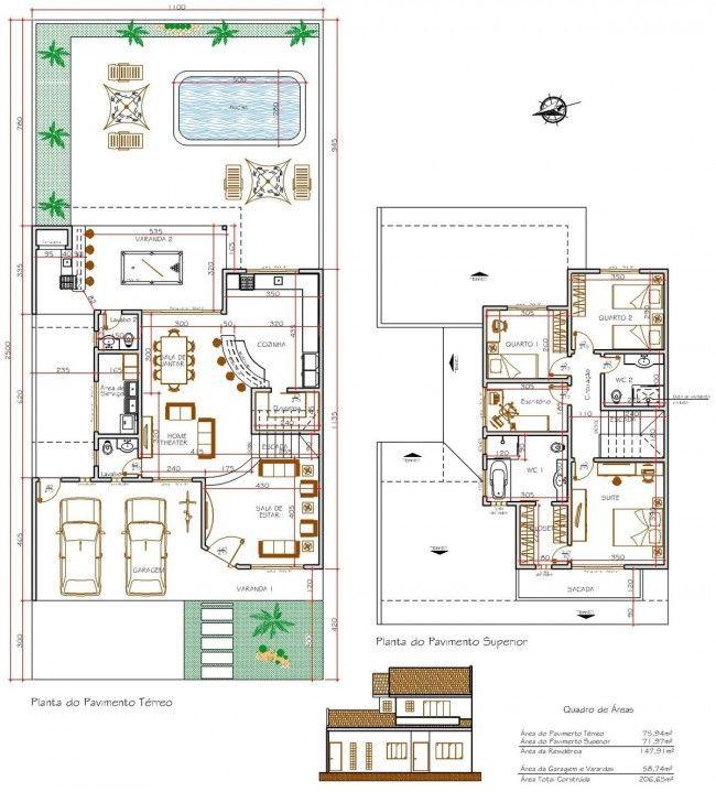 17 melhores ideias sobre planos de casa de campo no - Planos de casas pequenas de campo ...