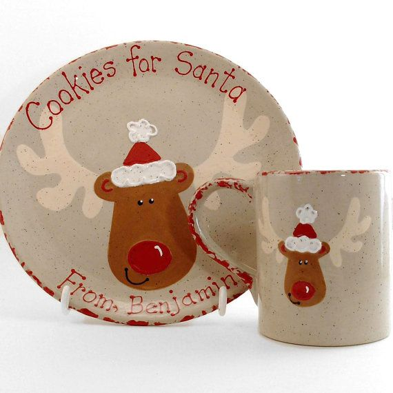 Cookies for Santa Plate AND Mug Personalized by ThePigPen