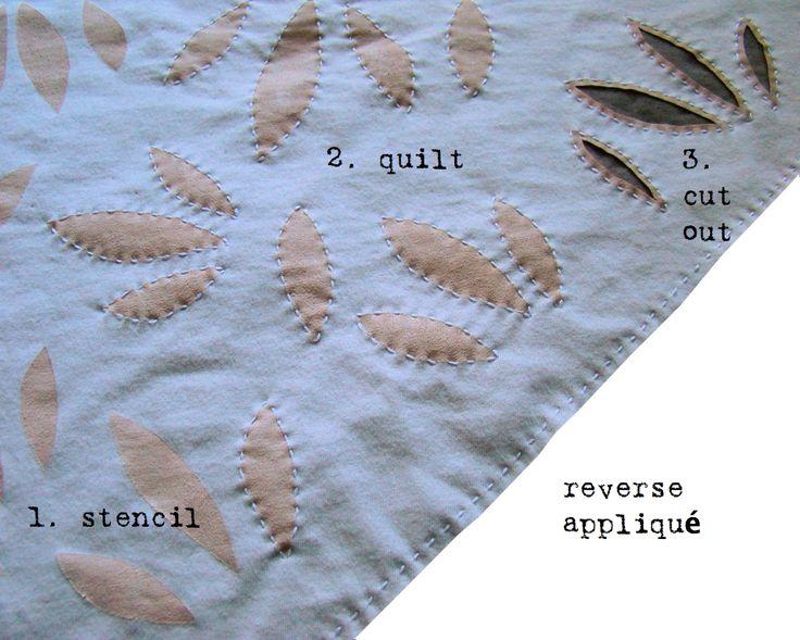 reverse applique | Altered T-shirt Scarf இਔழ | Pinterest