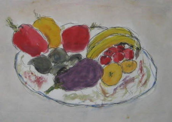 ARTFINDER: Aubergine, Fruit and Pepers - I have just published Aubergine, Fruit and Pepers on Artfinder