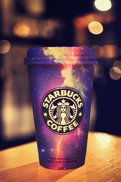 Galaxy Starbucks cup <3