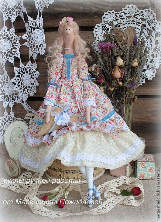 Куклы Тильды ручной работы. Ярмарка Мастеров - ручная работа. Купить Цветочная дива Антуанета. Handmade. Светло-желтый
