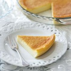 Crustless milk tart – Without the crust, this delicious tart is one of the most low in fat desserts you can get!