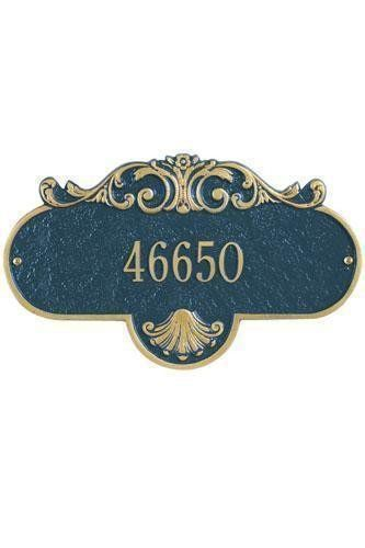 Rochelle One-Line Estate Wall Address Plaque - estate/one line, Navy Blue by Home Decorators Collection. $107.00. Rochelle One-Line Estate Wall Address Plaque - It's Your Own Little Corner Of The World - So Why Not Mark It With Pride? A House Sign Announces A Message Of Distinction. These Premium, Textured And Dimensional Address Plaques Are Designed With Large Letters And Numbers For Maximum Visibility. Choose From Our Exceptional Array Of Custom Address Plaques To Find T...