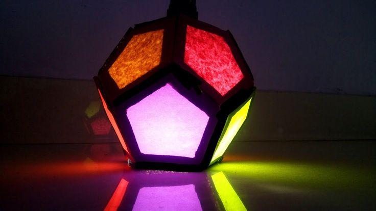 Diy Diwali lantern (Multicolor) || Diwali decoration lantern || Cardboar...