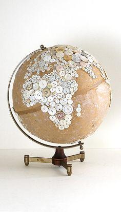 Globe Art on Pinterest | Globes, World Globes and Painted Globe