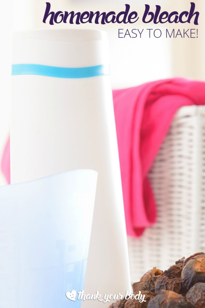 Want to whiten clothes and avoid using bleach? Check out this easy DIY all natural homemade bleach recipe. Brighter whites. Safer home.