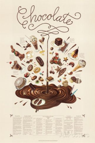 Chocolate Educational Food Poster ポスター