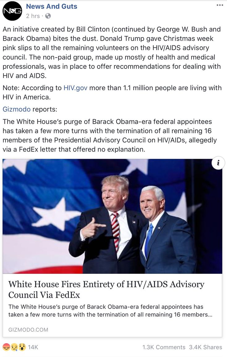 An initiative created by Bill Clinton (continued by George W. Bush and Barack Obama) bites the dust. Donald Trump gave Christmas week pink slips to all the remaining volunteers on the HIV/AIDS advisory council. The non-paid group, made up mostly of health and medical professionals, was in place to offer recommendations for dealing with HIV and AIDS.