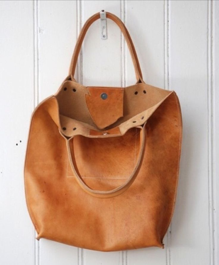 Image of Natural Chrome Free Leather Shopper #KP1253