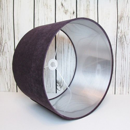 55 best metallic lampshades images on pinterest bespoke candid drum lampshade hand rolled in a purple velvet fabric the interior of the lampshade has also been lined with brushed silver pvc aloadofball Images