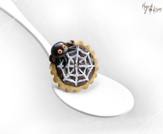 Halloween Ring Spider web Tart Ring Halloween by HugsKissesMINI
