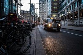 The London, taxi, køretøjer taxi, street, London