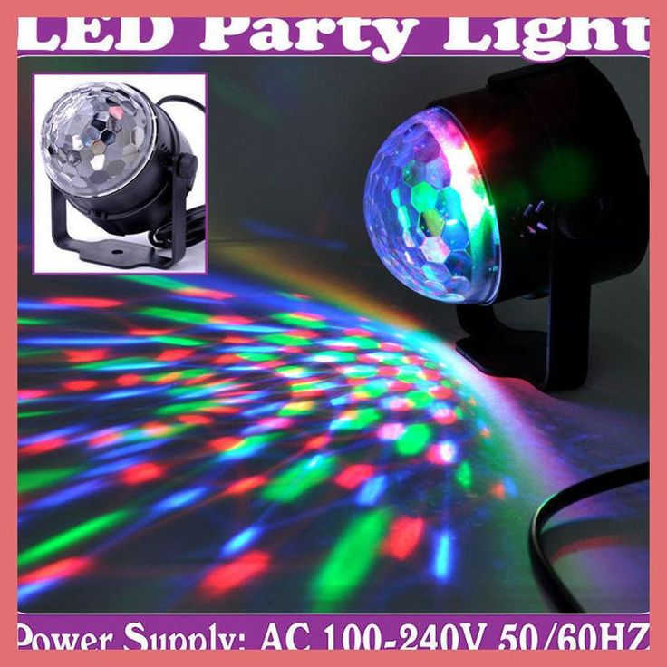 New Style led magic ball light RGB color Voice-activated+auto-running control new crystal magic ball Nueva bola magica