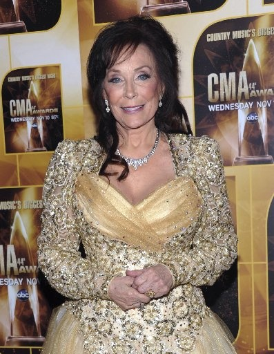 Loretta Lynn, country singer. Year 2012