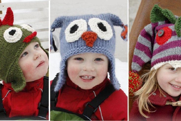 15 Patrons gratuits et en français de chapeaux pour enfants à faire au tricot ou au crochet!                                                                                                                                                                                 Plus