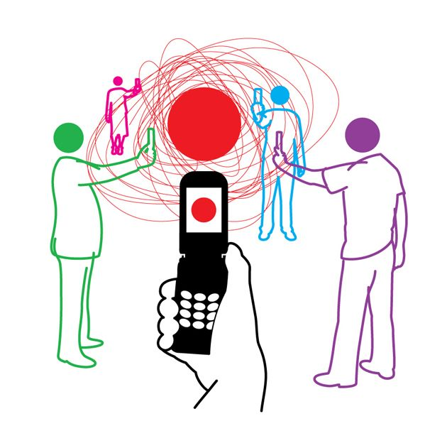 Picking up a phone or camera to record an instance, whether it's good or bad, is easily accessible. Imagine the red dot to be police brutality. Do you see how easy it is for a video to go viral? A matter of seconds.