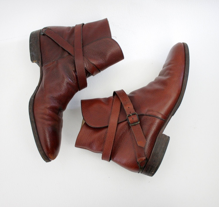 Vintage boots / 70s Fratelli Rossetti mens ankle low riding boots / size 10 mens