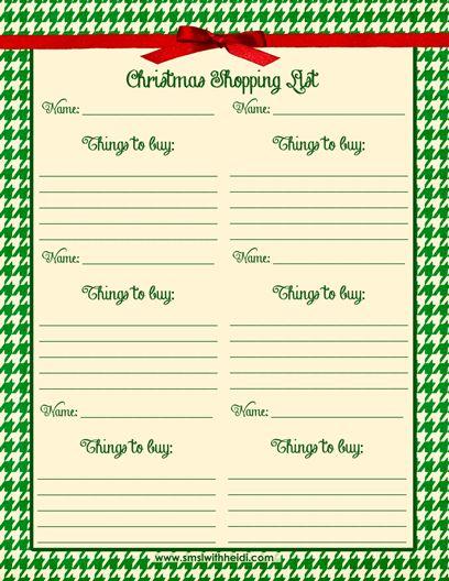 Holiday Preparation Checklist