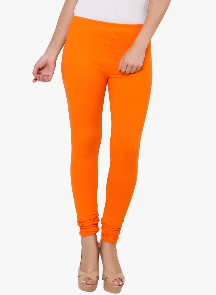 ORANGE SOLID LEGGING