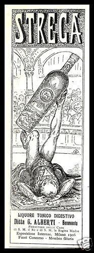 BENEVENTO LIQUORE STREGA ALBERTI GIOCOLIERE 1907