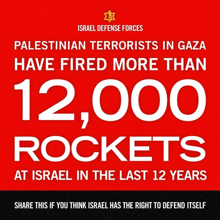 rockets on israel:(