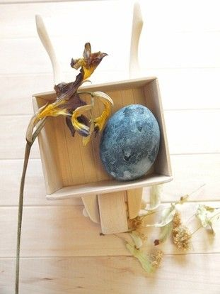Easter egg made with natural dye - fruit tea!