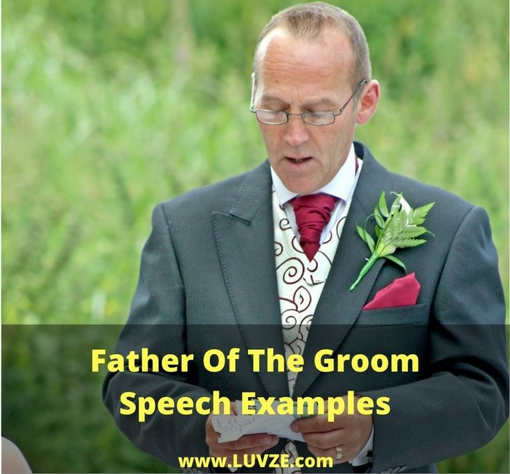 Check out our father of the groom speech examples. Some speeches are long and thoughtful and some are short and sweet. Pick and choose what's right for you.