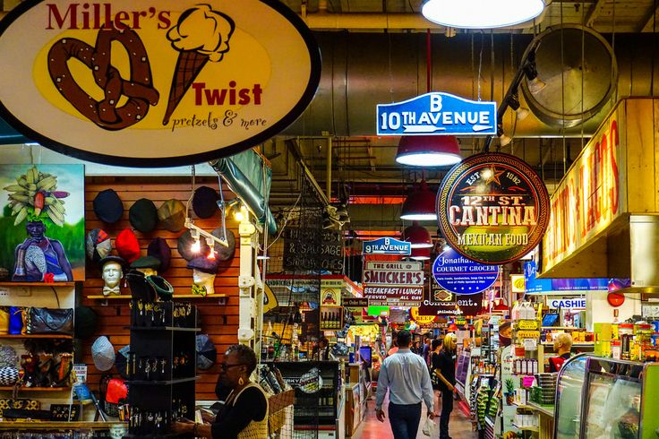 Reading Terminal Market, located at 11th and 12th between Market and Arch Streets, has all kinds of food and crafts. Iovine Brothers has some of the cheapest and best quality produce in the city, and be sure to check out the cookies, cakes, coffee, and Amish goods!