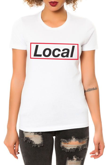 Dimepiece LA The Not YR Girl Tee in White The Dimepiece Not YR Girl Tee in  White Crewneck Graphic print on front Solid colorway Slim fit Short sleeves  ...