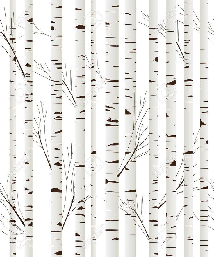 black and white birch tree wallpaper kuchy pokoj nov byt pinterest birch tree