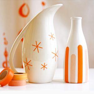 Customiser un vase avec des rubans adhésifs