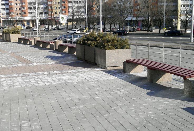 Мытый бетон - изделия с фактурной поверхностью