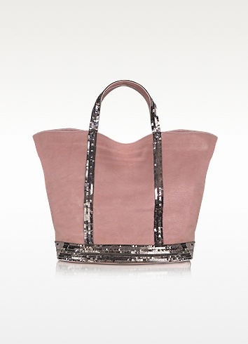 Vanessa Bruno Large Sequined Leather Tote | FORZIERI