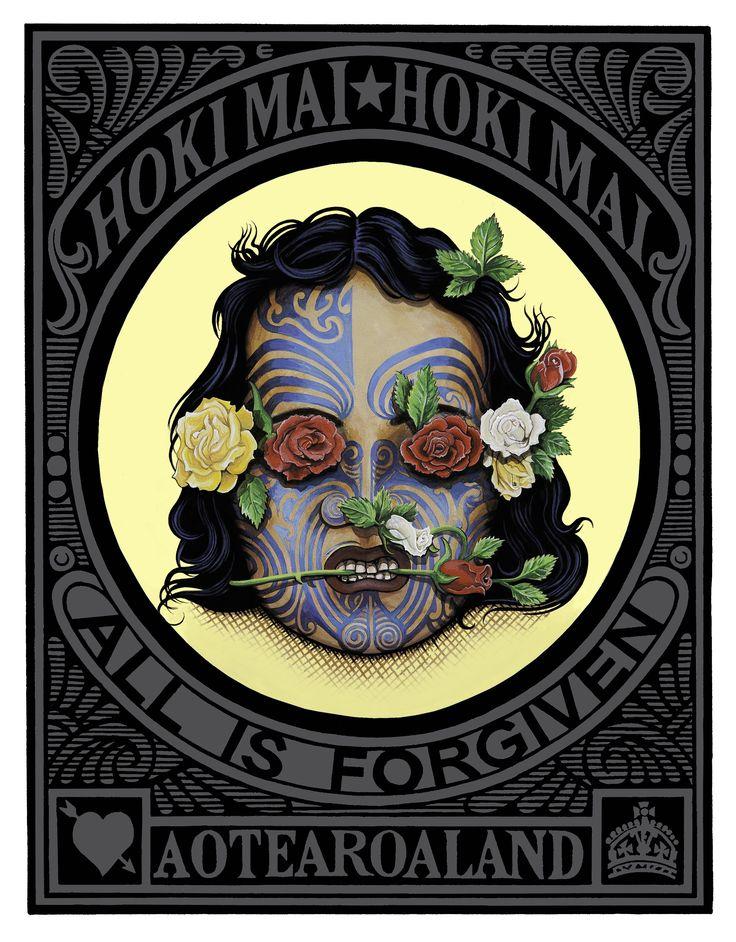 Hall's artwork 'Mokomokai'.